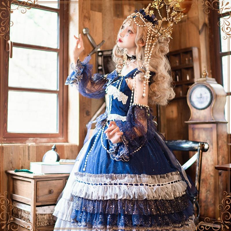 Оригинальный дизайн аниме косплей костюм лолита вечерние платья панк готика леди Лолита платье принцессы косплей