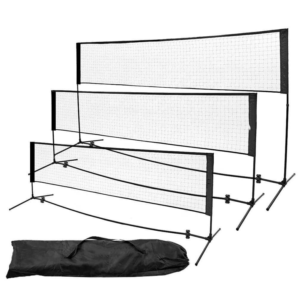 Портативная сетка для тенниса и бадминтона для тренировок на открытом воздухе, низкая цена и высокое качество