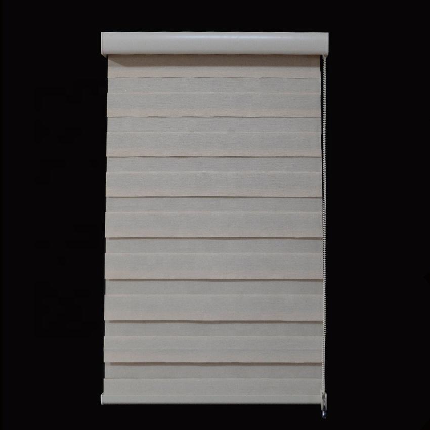 QIDA light filtering zebra blinds sunscreen window curtain for bedroom
