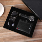 Year Gift Gifts For Men Custom Logo Accepted New Year Gift Set For Men Watch Wallet Sunglasses Valentines Gift Set