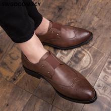Официальная обувь для мужчин; Лоферы; Обувь с перфорацией типа «броги»; Мужская классическая Свадебная обувь; Роскошная брендовая дизайнер...(Китай)