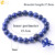 CSJA hot selling 7 chakra lapis lazuli gemstone buddha head charms bracelets men women bangle wholesale F573
