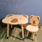 Furniture Kids Table And Chair Set Koala Table Chair Set Solid Wood Kids Furniture Separate Sale Acceptable