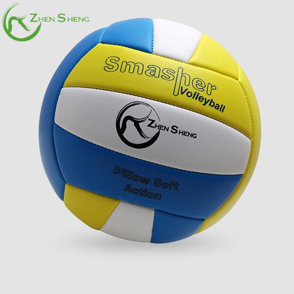 Zhensheng outdoor beach soft volleyball ball custom
