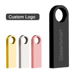 Usb Pen Metal Mini USB Flash Drive 64GB 32GB 16GB 8GB Pendrive Custom Logo USB Stick Pen Drive 4GB For Tablet PC