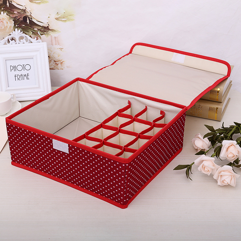 Thickened two-in-one covered clothing organizer underwear socks clothing storage box