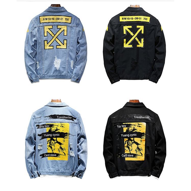 2020 New arrival fashion denim jacket wholesale washed custom blue men denim jean jackets