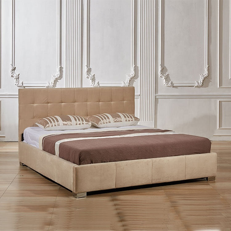 modern simple design bed for 2 child double white leatherbed children kids and adult bedroom set kid bed furniture