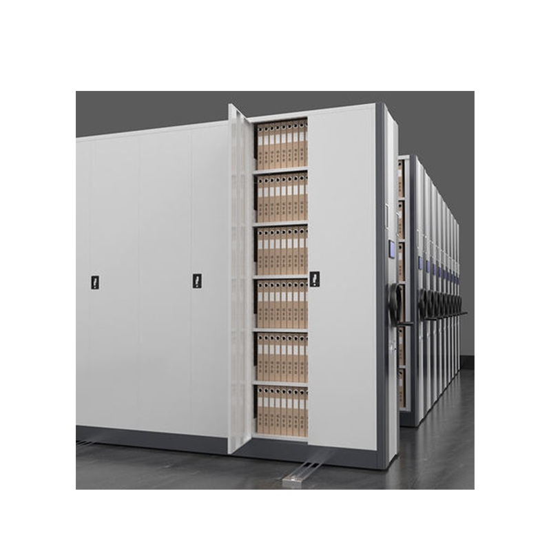 Public And Academic Libraries Archives High-Density Movable Mechanical Assist Storage Aisle Mobile Shelves