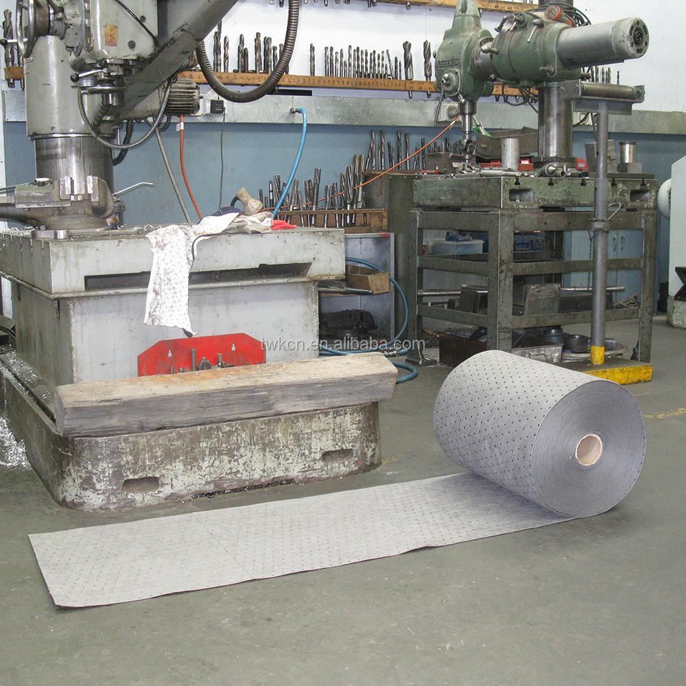 Поликарбонатные масляные впитывающие коврики в рулонах, диммированные нетканые салфетки, Универсальное оборудование для пролива, впитывающий войлочный рулон с перфорацией