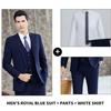 Men's Royal Blue 3-piece