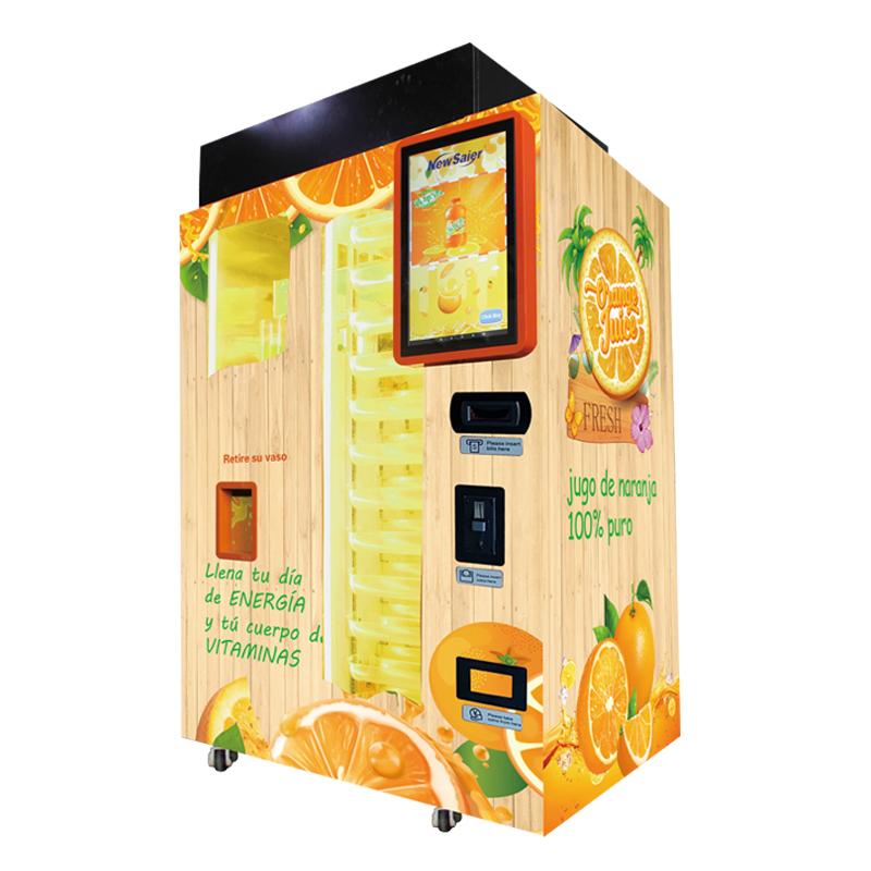 Большая модель коммерческий автомат апельсинового сока для супермаркета с оплата по кредитной карте