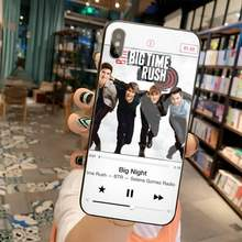 Милый чехол для телефона Btr Big Time Rush, чехол из закаленного стекла для iPhone 11 Pro XR XS MAX 8X7 6S 6 Plus SE 2020(Китай)