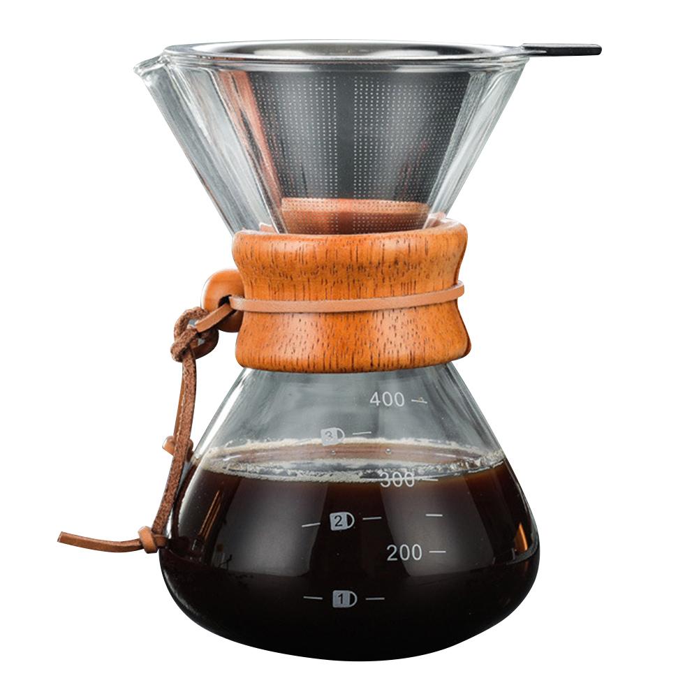 Высокое качество залить Кофе, тем самым позволяя зернам раскрыться боросиликатного Стекло ручной Кофе Воронка-дриппер для пивоваренной J8 #3(Китай)
