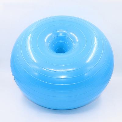 Хит продаж, спортивные аксессуары, утолщенный взрывозащищенный мяч для йоги 50 см в форме пончика, надувной Балансирующий мяч для йоги, сидячий мяч