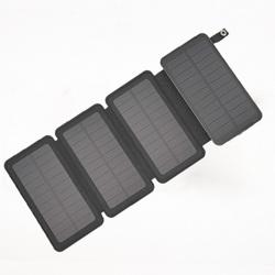 Горячая Распродажа 2021, складной, удобный в хранении внешний аккумулятор на солнечной батарее емкостью 20000 мАч со светодиодными лампами, внешние аккумуляторы