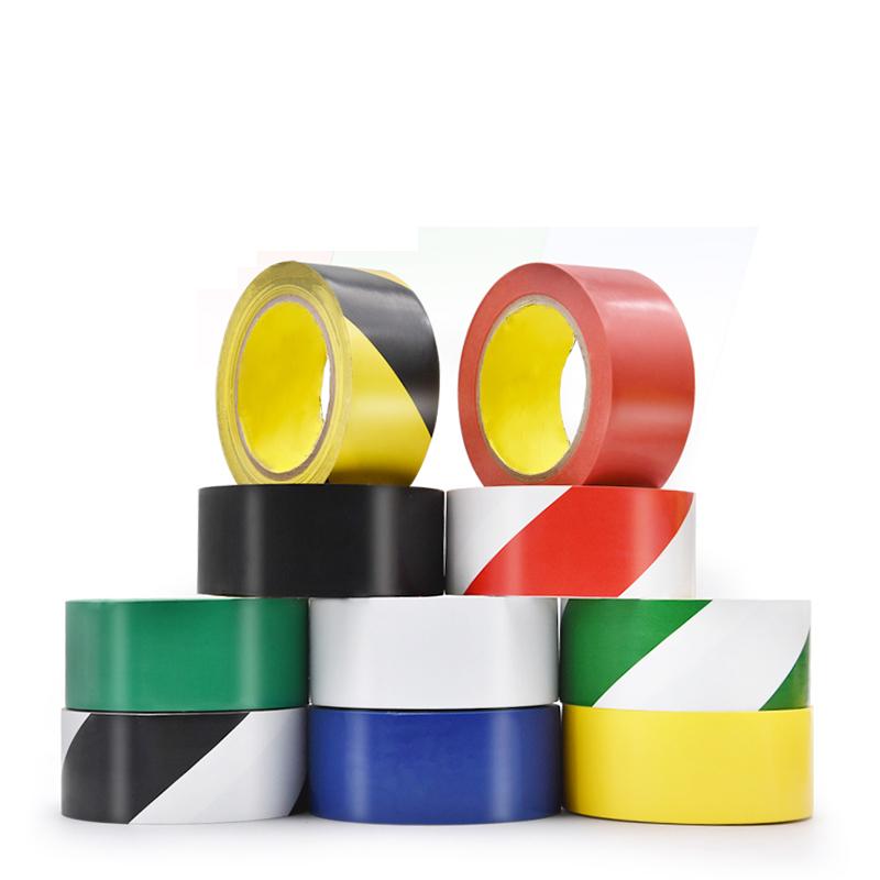 Yellow Color Mark Warning PVC Lane Marking Social Distance Self Adhesive Floor Tape