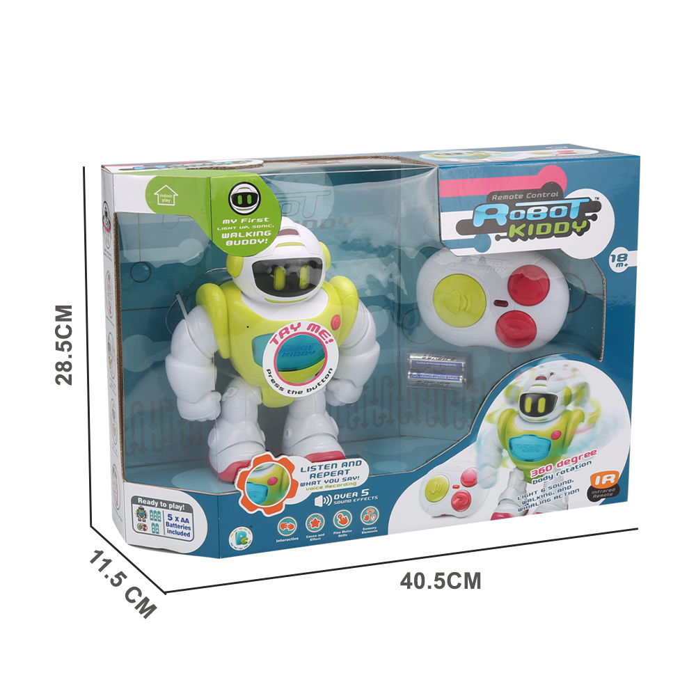 Интеллектуальный робот с дистанционным управлением, игрушка с голосовой записью, Интеллектуальный мультяшный Обучающий робот с дистанционным управлением со звуком и светом, ходячий робот, игрушка для детей