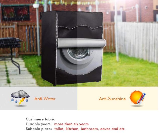 Для Черная передняя-погрузочная машина Водонепроницаемость Пыленепроницаемость контроль толще с края рулона стиральная машина/сушилка крышка стиральная машина крышки