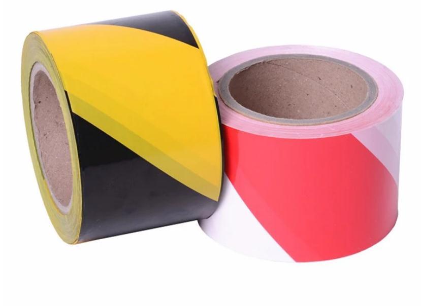 Китайская защитная лента, красная и белая неклейкая лента из полиэтилена
