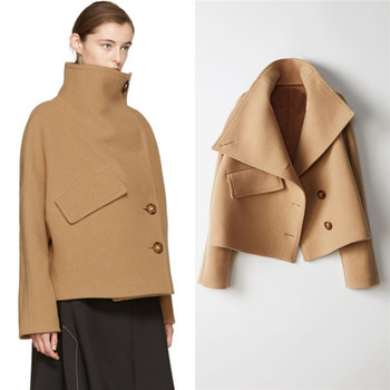 YQ118 free shipping Winter Women Overcoat Fashion Cashmere Jackets Button Wool Coat Double Breasted Short Trench Coats