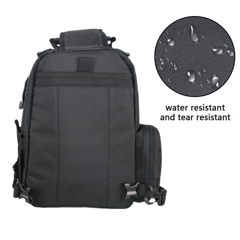 Military Sling Bag Bolso De La Honda Black USA DDP Warehouses RTS Laser Cut MOLLE