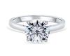 16;Platinum;Classic four claw single diamond ring