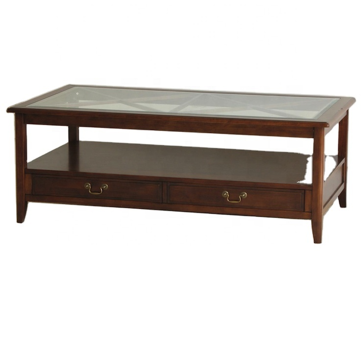 Living Room Furniture Center Table Solid Wood Coffee Table With Glass Top Buy Glass Top Wood Base Coffee Table Cheap Glass Coffee Table Wood Center Table For Living Room Product On Alibaba Com