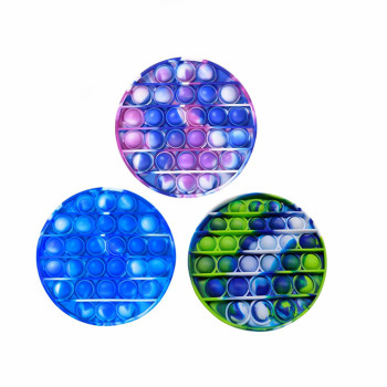 2021 Amazon Hot Sale Silicone Anxiety Relief Stress Reliever Autism Toy Push Pop Bubble Fidget Sensory Toy