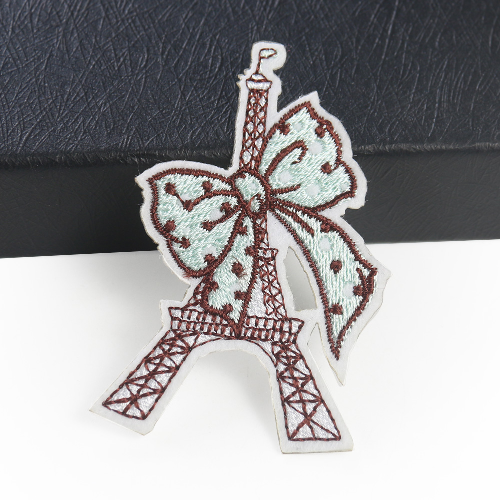 Paris silver embroidered patch