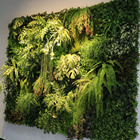 Plant Wall Plant Wall DIY Realistic Tropical Green Plant Wall Cheap Hanging Artificial Plant Wall For Indoor Decoration