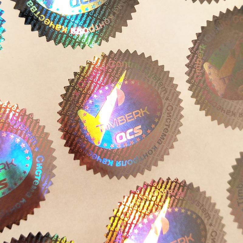 Hologram Laser Tag Label Genuine Original Authentic Valid Safe Sicher Security Tag For Package