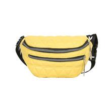 Модная сетчатая поясная сумка с узором, женская сумка из искусственной кожи на молнии, поясная сумка для телефона, Женская Повседневная сум...(Китай)