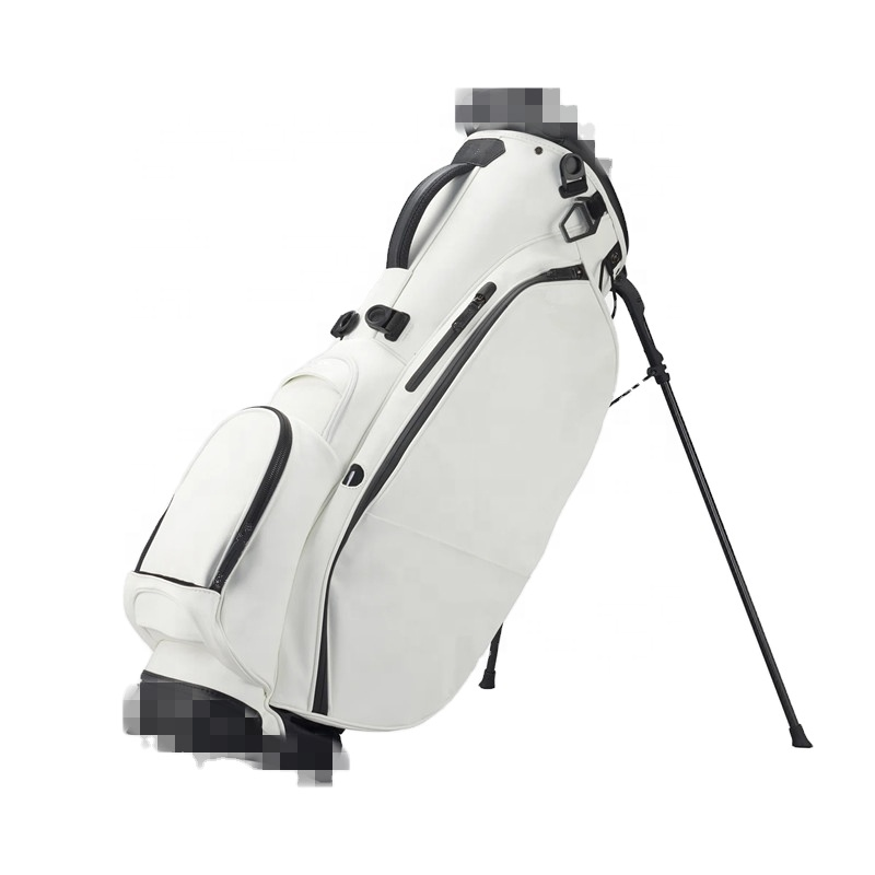 OEM White PU leather Golf Stand Bag with Custom Logo