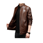 Leather Jacket Leather Wholesale Price Stand Collar Nappa Waterproof Man Leather Jacket In Stock