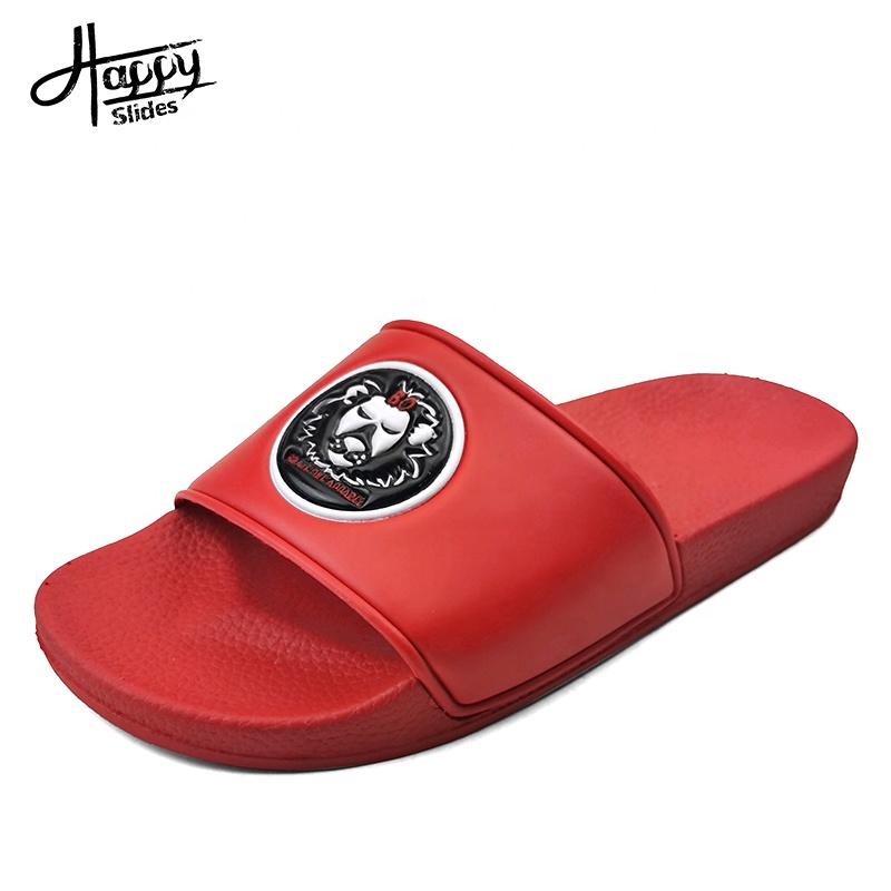 Happyslides/оптовая продажа мужских сандалий на заказ, мужские белые сандалии для улицы, лето 2020, новейшие модные мужские дизайнерские сандалии из ПВХ