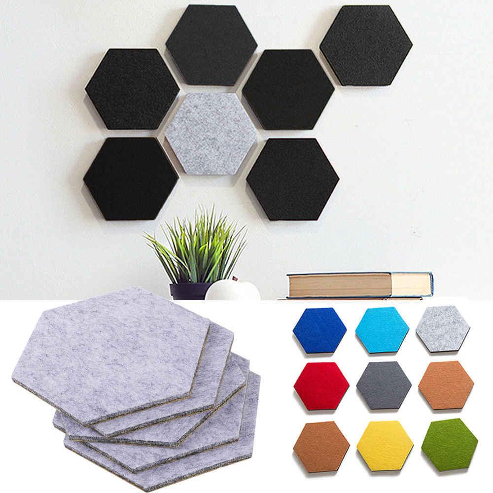 צבעוני הרגיש לוח קיר קישוט משושה הרגיש לוח עצמי דבק לוח עבור בית תפאורה
