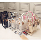 Women Bag Women Purse Bags Handbag AZB066 2pcs MOQ 2 In 1 Brand Designer Fashion Women Shoulder Bag Clear Jelly Clutch Purse Transparent Handbag