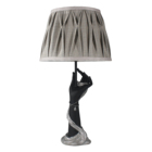 New arrival electric resin antique hand design lamp for bedrooms vintage dark gray lamp shade black decoration table lamp