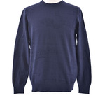 Cotton 100 Knitted Sweater Cotton 100 Men Navy Pullover 3D Kntting Effect Fancy Structure Men Jumper