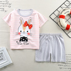 Clothes Baby 2021 Children's Summer New Children's Short Sleeve Set Hollow Cotton Clothes Boys' Clothes Baby 2 Sets