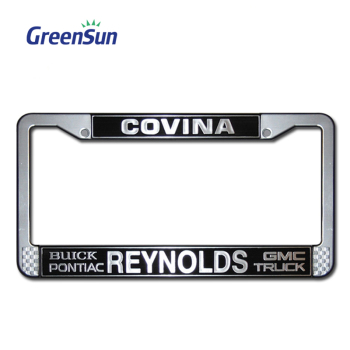 FREE SAMPLE Custom Embossed Design Printed License Number Plate Frames License Plate Cover Wholesale Car License Plate Frame