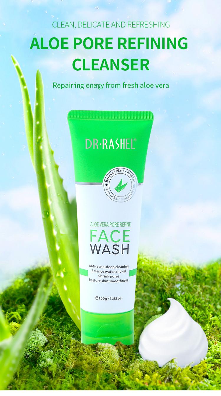 New Coming DR RASHEL Aloe Vera Pore Refine Face Wash 100g