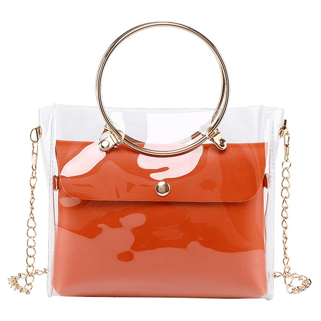 Женская сумка через плечо Aelicy, Маленькая прозрачная сумка через плечо с цепочкой, 1111, 2020(Китай)