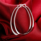 Copper Hoop Earrings Copperearrings Fashion Simple Style Silver Plated Copper Jewellery Hoop Earrings For Women