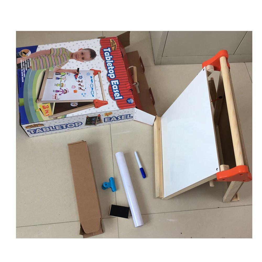 Деревянная доска для сухого стирания, доска, детские игрушки, деревянный детский мольберт, детский художественный мольберт