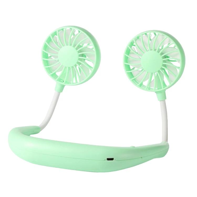 Мини-вентилятор для летних игрушек, перезаряжаемый через USB, с 3 портативными шейными вентиляторами с регулируемой скоростью
