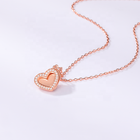 Pendant Charm 2021 New Trend 925 Sterling Silver Zircon Pendant Necklace For Woman Fashion Party Heart-Shaped Amulet Love Jewelry Charm Gift