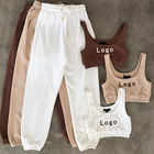 Women Clothing Outfits For Women New Arrivals 2021 Summer Trending Jogger Outfits Matching Sets Suits Set For Women Clothing Crop 2 Pieces 2 Piece Set Women