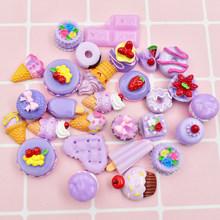 12 шт./лот, полимерные конфетные амулеты, DIY, шоколадные посыпки, Шарм для ручной работы, слизи, полимерный наполнитель, дополнение, украшение ...(Китай)
